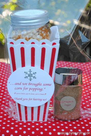 Popping In Holiday Hostess Gift Idea Our Home Sweet Home