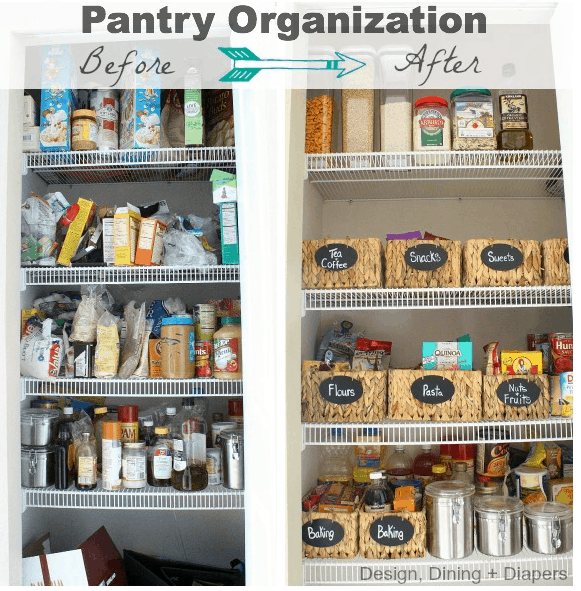 Pantry organization project our home sweet home Organizing home