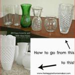 DIY White Ceramic and Glass Vases