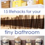 15 Lifehacks For Your Tiny Bathroom