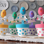 Easter Chick Colorful Placeholders Craft