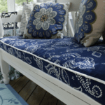 Repurpose Shower Curtains Into A Bench Cushion