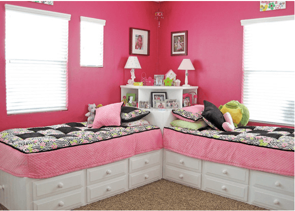 Small space kid bedroom for two our home sweet home - Small space bedroom furniture ...