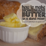 Making Homemade Butter In a Stand Mixer