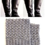 How To Make Easy Reversible Crochet Boot Cuffs