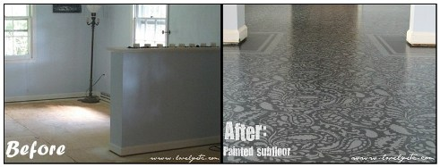 How to have beautiful painted floors a tutorial our for Can you paint over linoleum
