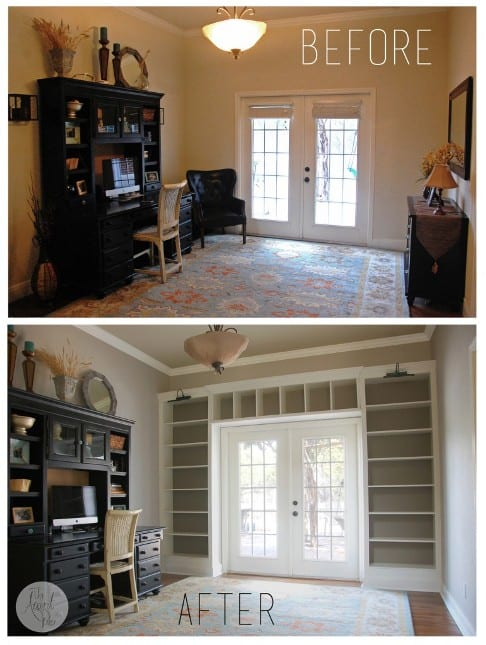 diy built in bookcase tutorial our home sweet home. Black Bedroom Furniture Sets. Home Design Ideas