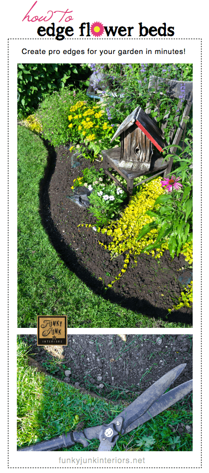 how to edge your flower beds our home sweet home