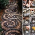 How to Make a Pebble Mosaic in Your Garden