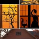 25 Cool Halloween Ideas For Decorating Windows With Silhouettes