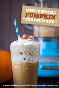 white mocha Pumpkin-Frappuccino