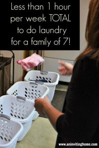 Laundry less than 1 hour family of seven