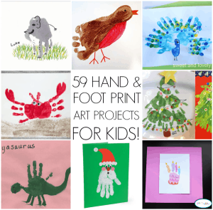 59 hand and foot print art ideas for kids our home sweet for Hand and feet painting ideas