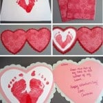 Baby Footprints Heart Card Project