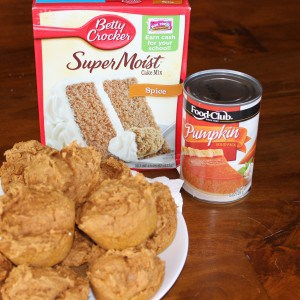 pumpkin muffins 2 ingredients 2