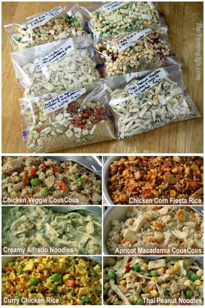 6 Instant Meals on the Go - just add water!