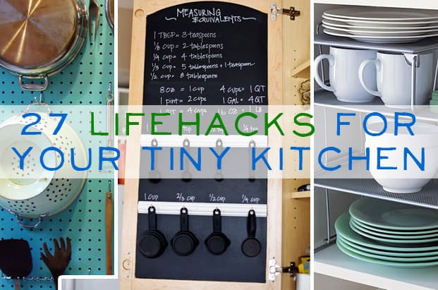 27 lifehacks for your tiny kitchen our home sweet home for Small kitchen organization hacks