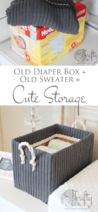 Cute Storage Boxes From Old Sweaters and Boxes2