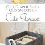 Cute Storage Boxes From Old Sweaters and Boxes