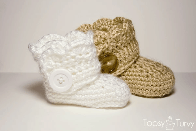Free Crochet Pattern For Baby Boots Our Home Sweet Home