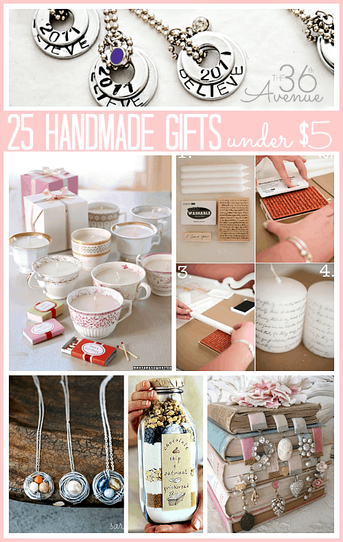 25 handmade gifts under 5 our home sweet home Unique uni gifts under 25