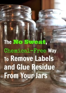 remove labels and glue residue from jars