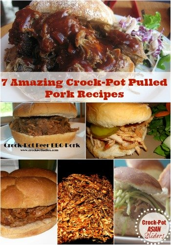 7 crockpot pulled pork recipes