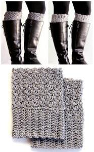 Easy Reversible Crochet Boot Cuffs