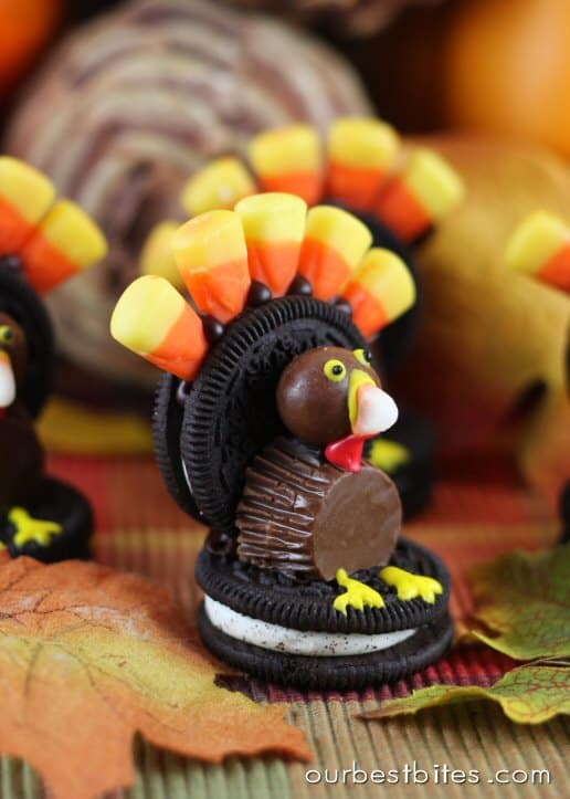 How To Make Oreo Cookie Turkeys - Our Home Sweet Home