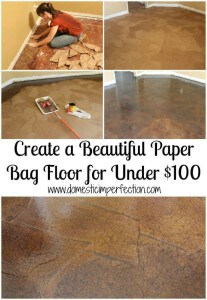 paper bag floor tutorial under 100