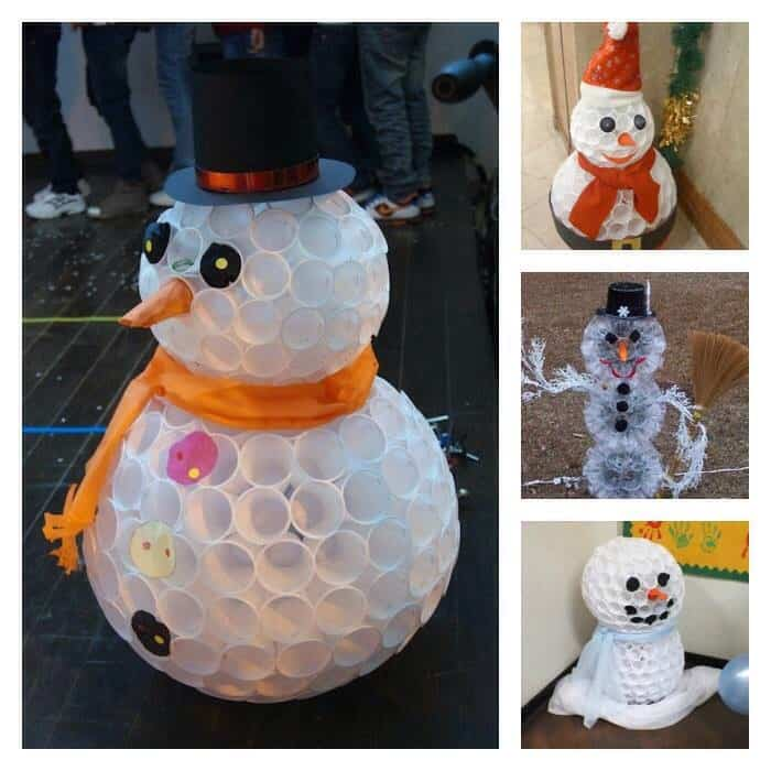 Superb How To Make A Snowman Part - 7: How To Make A Snowman With Plastic Cups
