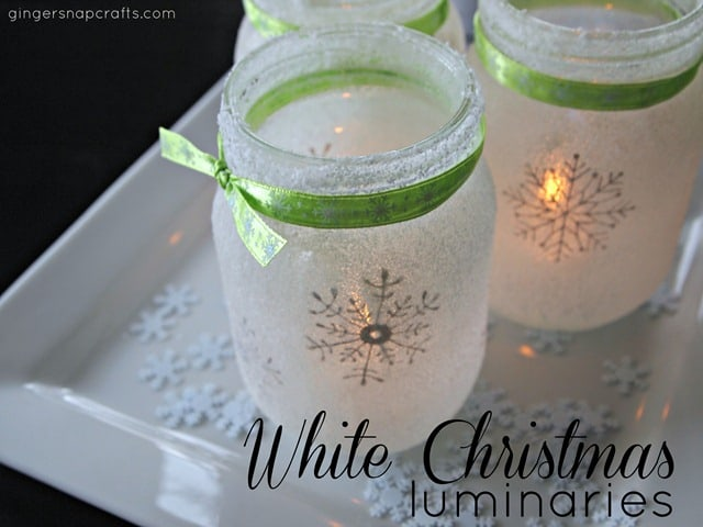 white Christmas-luminaries