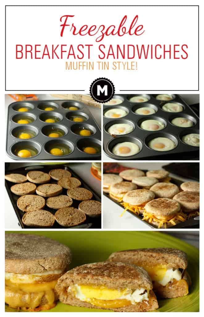 Freezable Breakfast Sandwiches - easy food prep!