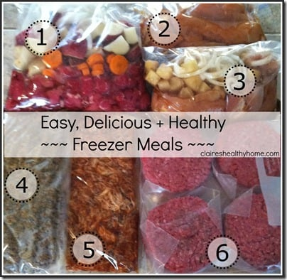easy healthy freezer meal recipes