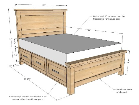 farmhouse bed storage