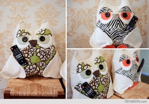How To Make An Owl Remote Caddy Pillow Our Home Sweet Home