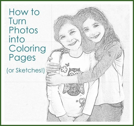 How to Turn Photos Into Coloring Pages or Sketches - Our Home Sweet Home