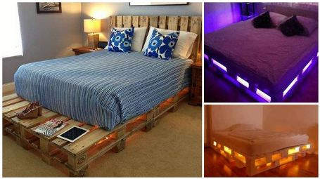 How to Build a Glowing LED Pallet Bed - Our Home Sweet Home