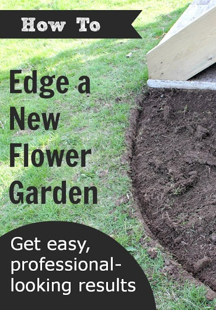 Quick and easy way to edge your new flower garden our How to make your home beautiful