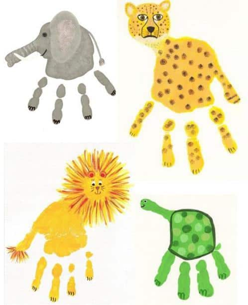 Fun And Easy Handprint Art Crafts For Kids Our Home Sweet Home