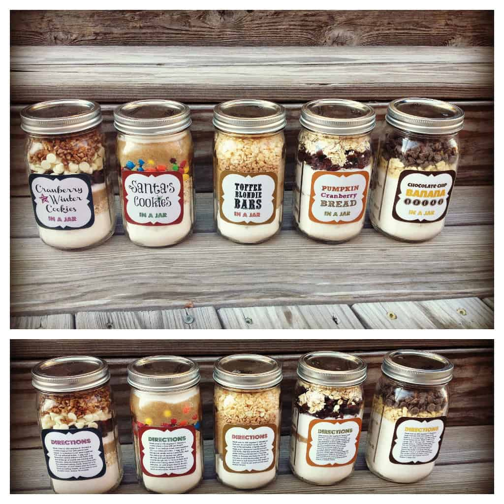 5 Homemade Baked Gifts In A Jar (Recipes + Printable Tags