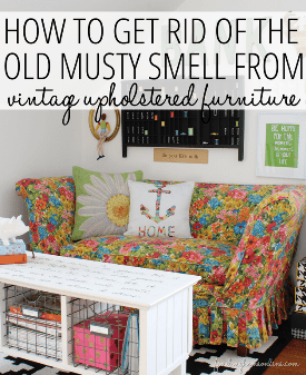 How To Remove The Musty Smell From Your Upholstered