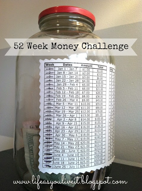 Take the 52-Week Savings Challenge