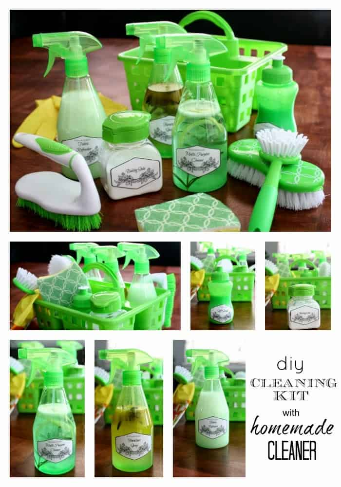 create your own cleaning kit with homemade cleaners