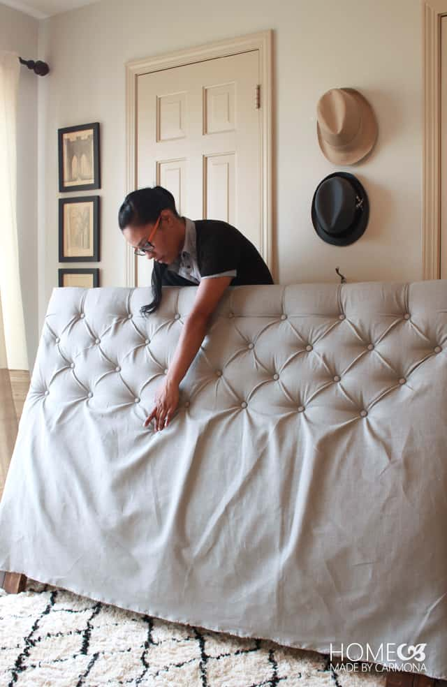 Diy Diamond Tufted Headboard Tutorial Our Home Sweet Home