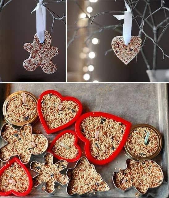 DIY Bird Seed Ornaments