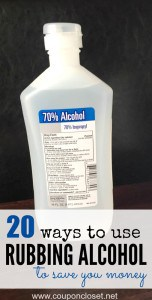 20 Ways To Use Rubbing Alcohol to Save Money