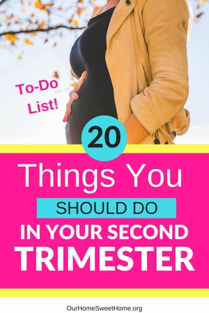 20 Things You Should Do In Your Second Trimester of Pregnancy - ultimate to-do list!