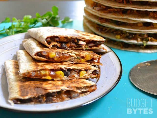 Black Bean Quesadillas - budget lunch recipe idea for work