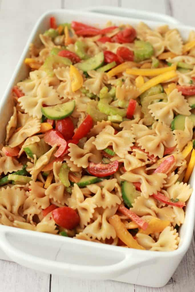 Easy Pasta Salad - vegan recipe!